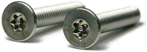 Torx w//Pin Tamper Proof Security Flat Cap Machine Screw 18-8 Stainless Steel Qty-100 T-15 6//32 x 3//8