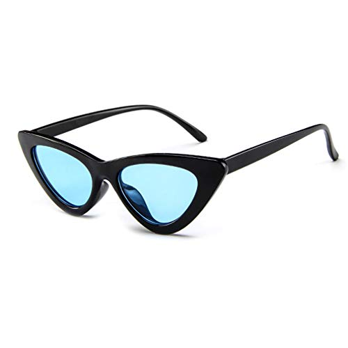Eyeglasses Wild Outdoor Shopping Small UV Frame Sunglasses Sunglasses Frame Decorative Triangle Lens for Travel Cat Glasses Fashion Protection Eye Black Holiday Sun Goggles blue Stylish nxWCaUq