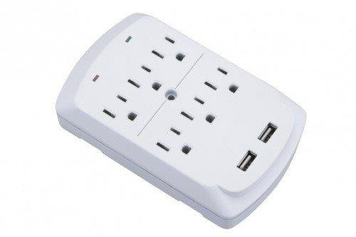 cj-tech-533-3-outlet-wall-tap-with-dual-usb-ports-21-amps-white