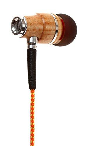 Access Symphonized NRG Premium Genuine Wood In-ear Noise-isolating Headphones with Mic (Orange Stripe) wholesale