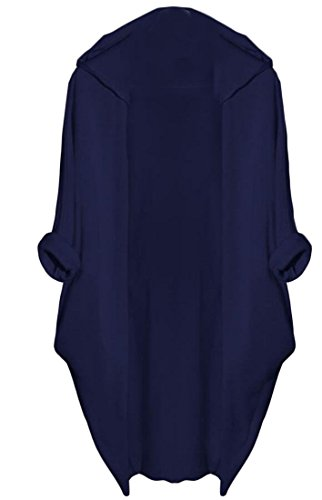 Cardigan Sleeves Slim M amp;W Women's Open Front Bat Coats amp;S Blue qw08Ox7