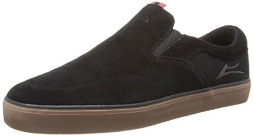 Lakai Men's Owen Skateboarding Shoe, Black/Gum Suede, 11 M US