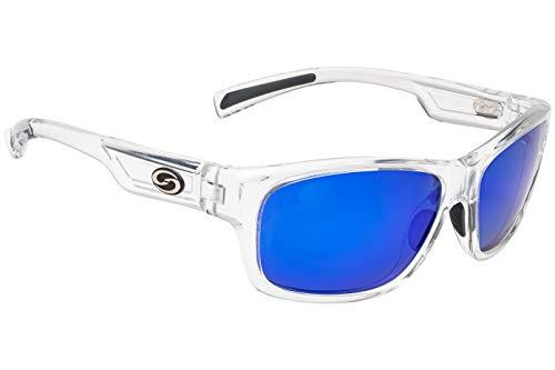 Strike King Lures, Jordan Lee Pro Series Sunglasses, Shinny Crystal Clear Frame Gray ()