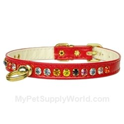 Mirage Pet Products No.26 Dog Collar, 10-Inch, Red