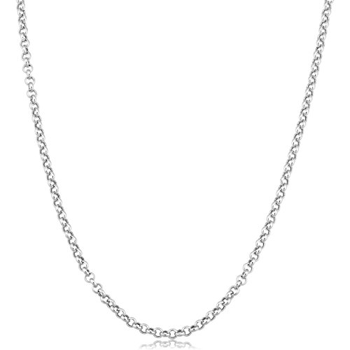 14k Rolo (Kooljewelry 14k White Gold 2.4mm Rolo Chain Necklace (16 inch))