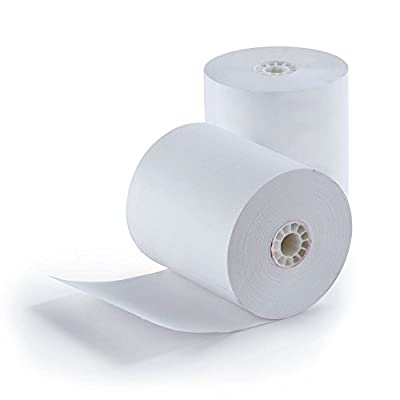 "Finance or ATM 1-Ply Bond Paper Roll Item 7055 (165' x 3"") - 50 Per Case Made in USA from BuyRegisterRolls"