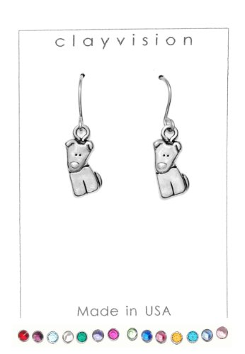 Clayvision German Shepherd Beagle Tilt Dog Charm Earrings with No Swarovski Crystals (Tilt Womens Ring)