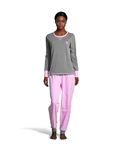 n's 2 Piece Flannel Shirt and Cuffed Pajama Pants Sleep Set Charcoal Heather Large (Horses Womens Pajama Pants)