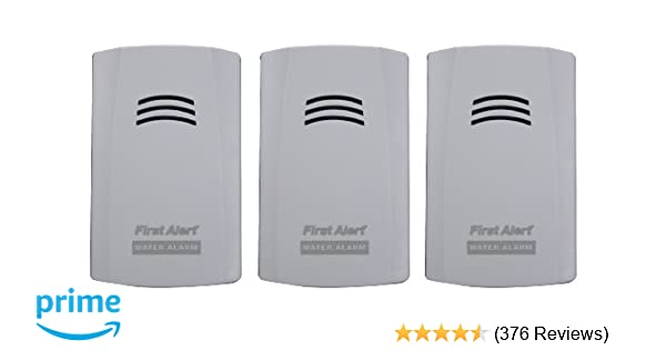 first alert wa100 3 water alarm for leak detection and flood alertsfirst alert wa100 3 water alarm for leak detection and flood alerts, 3 pack moisture alarm amazon com