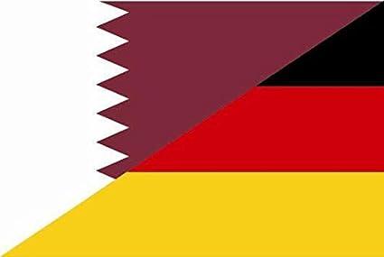 U24 Fahne Flagge Katar-Deutschland Bootsflagge Premiumqualität 50 x 75 cm:  Amazon.de: Sport & Freizeit
