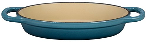Le Creuset Enamel Cast Iron Signature Oval Baker, 5/8 quart, Marine
