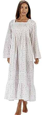 Vintage Inspired Nightgowns, Robes, Pajamas, Baby Dolls The 1 for U 100% Cotton Nightgown Violet With Pockets 7 Sizes $39.99 AT vintagedancer.com