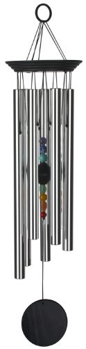 Woodstock Chakra Windchime with 7 Stones, 24.5-Inch Outdoor, Home, Garden, Supply, Maintenance