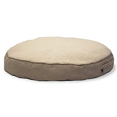 FurHaven Faux-Fur and Gusseted Big Dog Pet Pillows, Clay, Large by Furhaven Pet