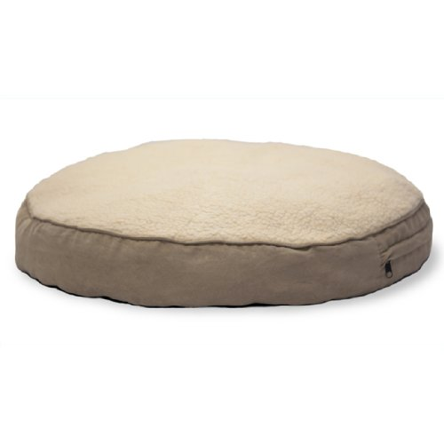 FurHaven Faux-Fur and Gusseted Big Dog Pet Pillows, Clay, Large For Sale