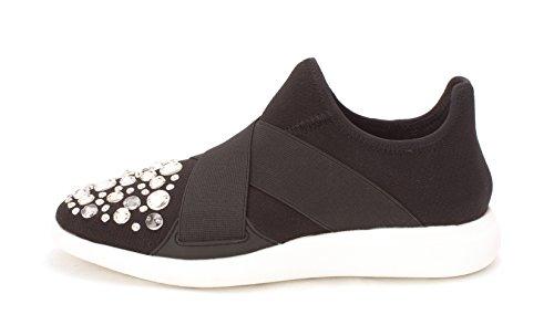 ALDO Womens Dorea Low Top Slip On Fashion Sneakers, Black, Size 8.0