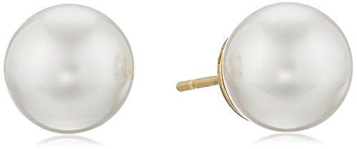 Majorica 10mm White Simulated-Pearl Stud Earrings