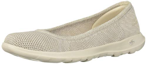 Skechers Women's GO Walk LITE-16352 Ballet Flat Natural 7 M US