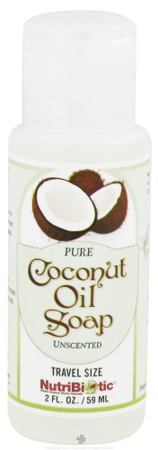 NUTRIBIOTIC Pure Coconut Oil Soap; Unscented, 2 Ounce