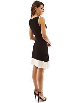 PattyBoutik Women's Block Color V Neck Faux Wrap Dress