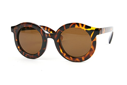 Pop Fashionwear Vintage Thick Rimmed Round Sunglasses P2178 (Tortoise-Brown - Thick Glasses Rimmed Round