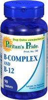 Fierté vitamine B complexe et la vitamine B12 90 comprimés 6 bouteilles de Puritan