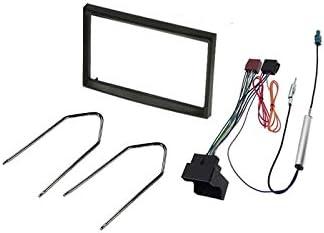 Sound-way Kit Montage Autoradio, Marco 2 DIN Radio de Coche, Adaptador Antena, Cable Adaptador Conector ISO, Llaves Desmontaje compatible con Fiat ...