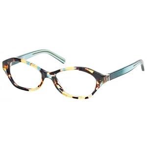 Tory Burch TY2044 Eyeglass Frames 1329-50 - Blue Tortoise Geyser TY2044-1329-50