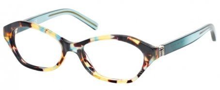 Tory Burch TY2044 Eyeglass Frames 1329-50 - Blue Tortoise Geyser - Burch Tory Glasses