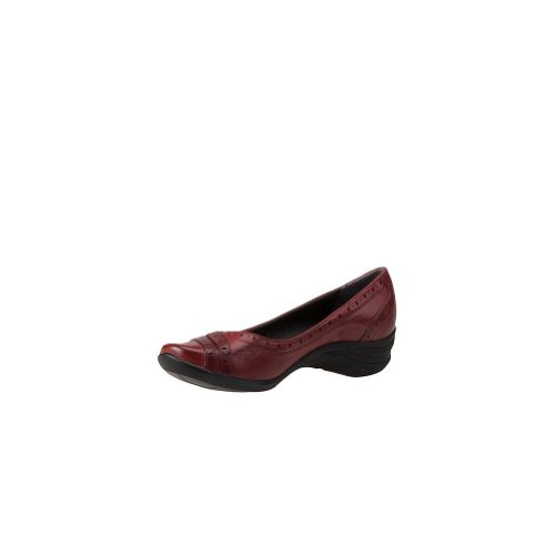 Leather Puppies Hush Burlesque Las Slip On Red de Shoe mujeres Dark qTUn7g