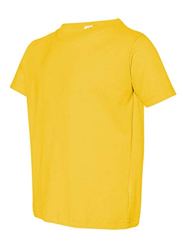 (Rabbit Skins Toddler Fine Jersey T-Shirt (Yellow) (4T))