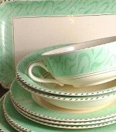 Burgess and Leigh Burleigh Ware Green 5 Inch Soup Coupe