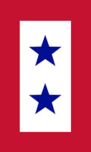 Star Decal Blue Service (American Vinyl 2 Blue Stars Military Service Flag Sticker (army two parent))