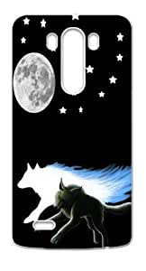 Running Wolf Moon Case Cover for LG G3, NEW Phone Cases