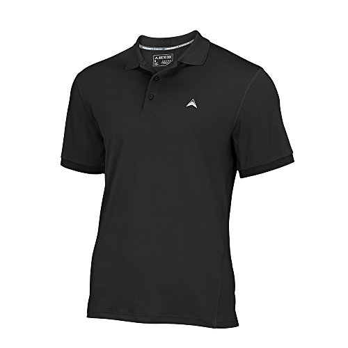 Arctic Cool Mens Instant Cooling Polo with UPF 50+ Sun Protection, Cool Black, XXL