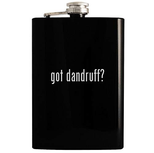 got dandruff? - 8oz Hip Drinking Alcohol Flask, Black