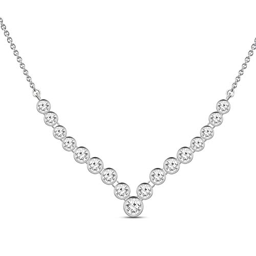 100% Real Diamond Necklace Luxury 1 ct Lab Grown Designer Diamond Necklace VSSI-EF Quality 10K Real Diamond Necklace White Gold Diamond Necklace for Women (Jewelry Gifts For Women) ()