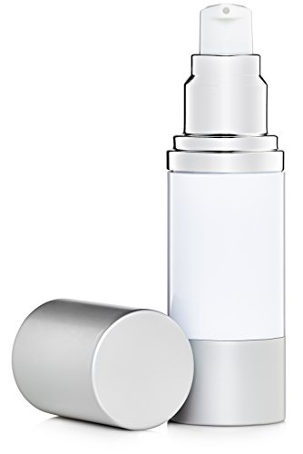 Airless Pump Bottles Set of 2 Refillable White 1 oz by JT Bottles (Image #6)