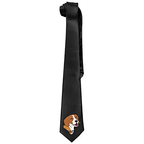 Beagle Tie Men's Cotton Printed Neck Tie Skinny Neckties Length 143-145cm