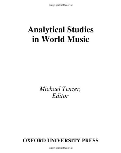 Analytical Studies in World Music: includes CD