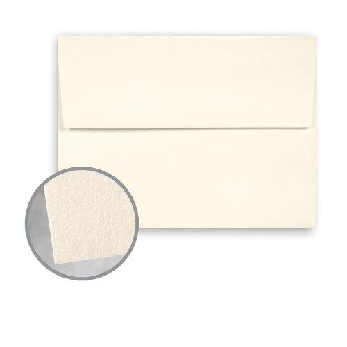 CRANE'S LETTRA Ecru White Envelopes - A7 (5 1/4 x 7 1/4) 32 lb Writing Lettra 100% Cotton 200 per Box by Neenah