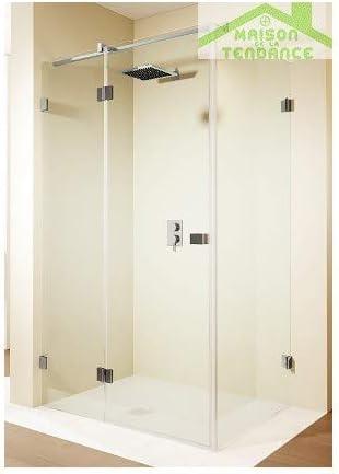 RIHO - Puerta batiente de ducha universal SCANDIC S203 de cristal ...