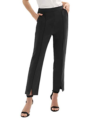 - GRACE KARIN Womens Casual Business Dress Pants Ankle Cropped Pant Tummy Control Black XL