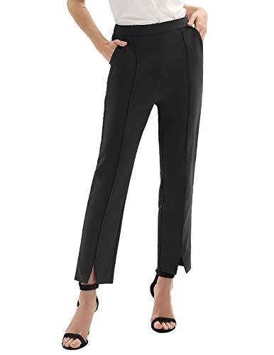 GRACE KARIN Women's Casual Lightweight Dress Pants Work Pockets Pant Trouser Black XXL