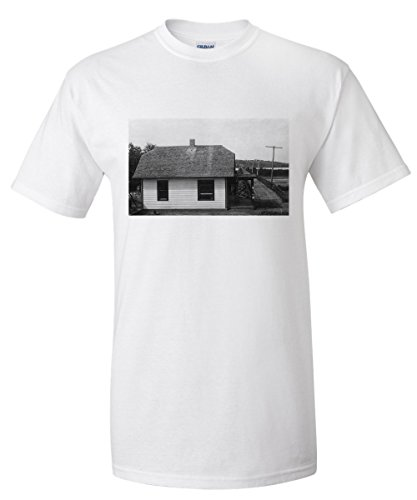 louisville-nebraska-view-of-wagon-bridge-toll-house-white-t-shirt-xx-large
