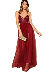 Satin Deep V Neck Backless Maxi Gown
