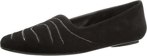 VANELi Women's Sissy Black Suede/Pewter Chain Loafer
