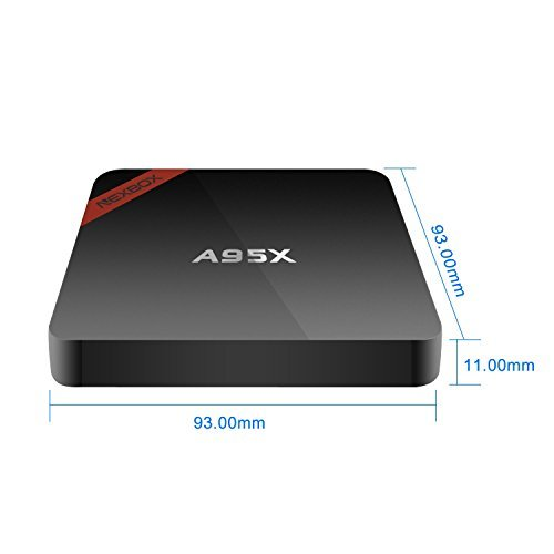 NEXBOX-A95X-Mini-Android-TV-Box-4K-Ultra-HD-Powered-by-Amlogic-S905-64Bit-Quad-Core-20GHz-Android-51-Root-1G8G-Kodi-161-Pre-installed-Streaming-Media-Player-with-Learning-Remote