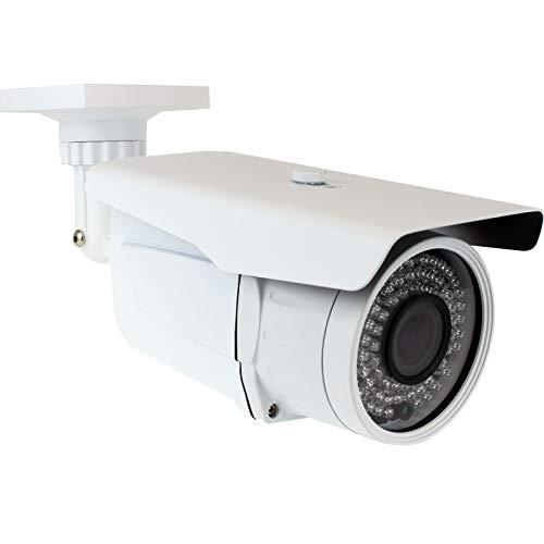 GW Security 8 Megapixel 4K (3840×2160) 2.7-13.5mm Varifocal Zoom Outdoor Weatherproof Onvif H.265 8MP Bullet PoE IP Camera, 196FT IR Night Vision