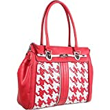 GUESS Love Lock Satchel Red Multi